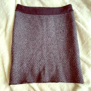 Lord & Taylor Sweater Skirt - Dark Blue - XS